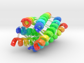 Coiled-Coil Hexamer in Glossy Full Color Sandstone