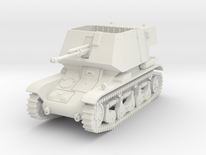 PV185 4.7cm Pak(t) auf Pzkw 35R(f) (1/48) in White Natural Versatile Plastic