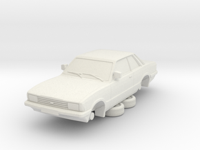 1-76 Ford Cortina Mk5 2 Door Hollow in White Natural Versatile Plastic