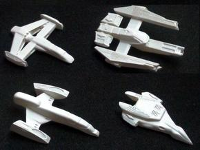 4x Human Fighters 30-40mm, Assembly required in White Strong & Flexible