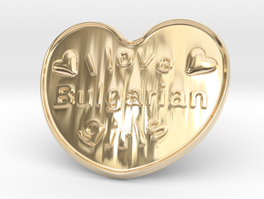 I Love Bulgarian Girls in 14K Yellow Gold
