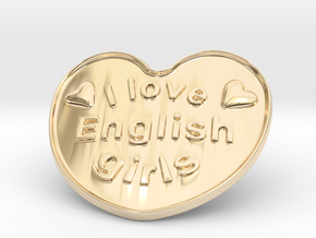 I Love English Girls in 14K Yellow Gold