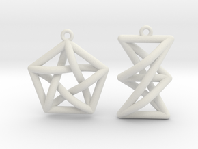 Forbidden Subgraph Earrings in White Natural Versatile Plastic