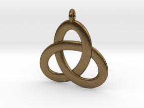 2.5D Open Triquetra Pendant 4.5cm in Natural Bronze