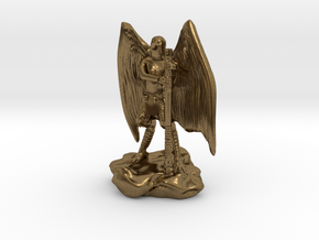 Aarakocra in Leather with Staff, Mace, & Crossbow in Natural Bronze