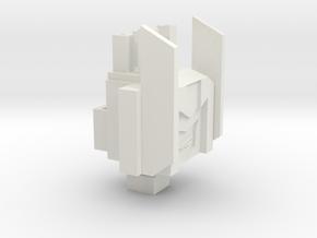 Tankette TR Head/Tank in White Natural Versatile Plastic