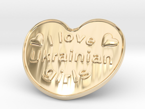 I Love Ukrainian Girls in 14K Yellow Gold
