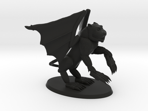 Winged Demon in Black Natural Versatile Plastic