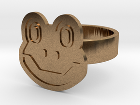 Frog Ring in Natural Brass: 13 / 69