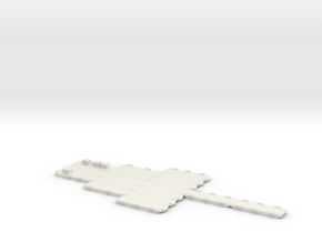 1/700 Scale Modular Causeway Trident in White Natural Versatile Plastic