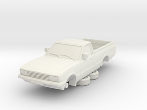 1-64 Ford Cortina Mk5 P100 Hollow (repaired) in White Natural Versatile Plastic