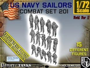 1-72 USN Combat Set 201 in Smooth Fine Detail Plastic