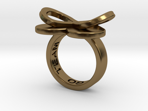 AMOUR in polished bronze  in Polished Bronze: 7 / 54