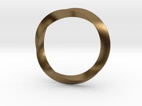 Mobius in Natural Bronze (Interlocking Parts)