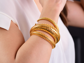 DRAGON Strutura, Bracelet Thick. in 18k Gold Plated: Extra Small
