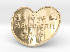 I Love American Girls in 14k Gold Plated Brass