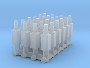 1:64 Whiskey Bottles in Smooth Fine Detail Plastic