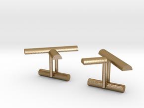 K Cufflink 1 in Polished Gold Steel