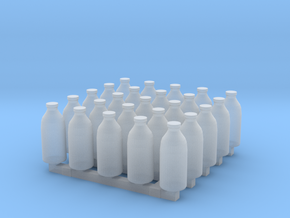 Milk bottles x25 in Smoothest Fine Detail Plastic