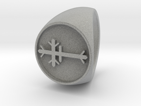 Custom Signet Ring 53 in Metallic Plastic