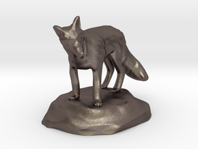 Xeno Borellis, Druid in Fox Form in Polished Bronzed Silver Steel