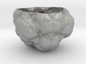 Fractal Flower Pot III in Aluminum