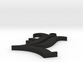 Collar L in Black Acrylic