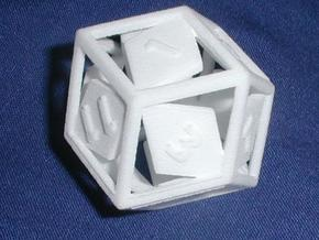 Open Rhombic d12 in White Strong & Flexible