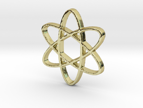 Science Atomic Whirl Pendant in 18k Gold Plated Brass