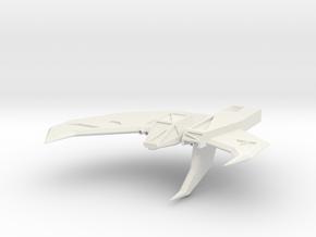 Wing Commander Kilrathy Strakha MK2 in White Strong & Flexible