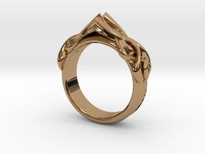 Designer RING 6 in Polished Brass: 7 / 54