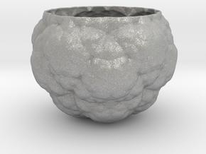 Fractal Flower Pot IV in Aluminum