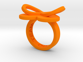 AMOUR in orange polished plastic  in Orange Strong & Flexible Polished: 5.5 / 50.25