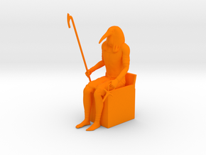Thoth Ibis in Orange Processed Versatile Plastic