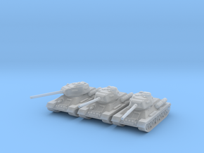 6mm T-34-85 tank (3 pieces) in Frosted Extreme Detail