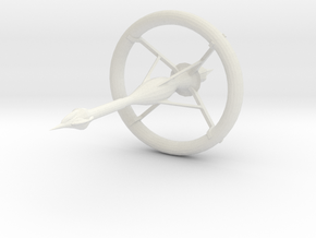 Capital Colonial Starship in White Natural Versatile Plastic