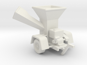 WoodChipper-Yard S 64:1 Scale in White Strong & Flexible