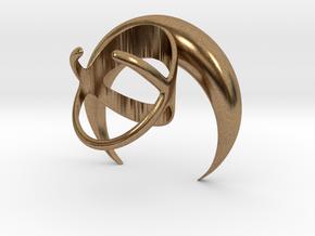 Renaissance Moon Ring in Natural Brass: 7 / 54