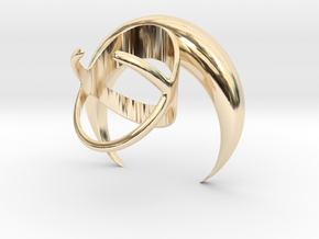 Renaissance Moon Ring in 14k Gold Plated Brass: 7 / 54