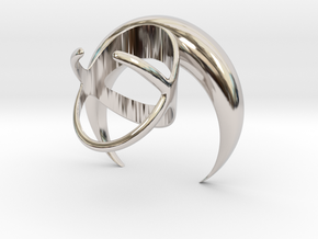 Renaissance Moon Ring in Rhodium Plated Brass: 7 / 54