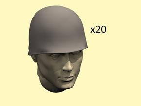 1/35 US M1 helmets in Smoothest Fine Detail Plastic