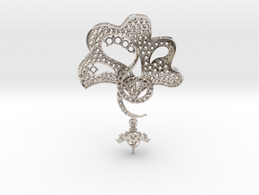 Pendant with three parts PS001000010 in Rhodium Plated Brass