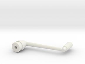 SNCV manivelle frein - NMVB rem - SNCV brake in White Natural Versatile Plastic