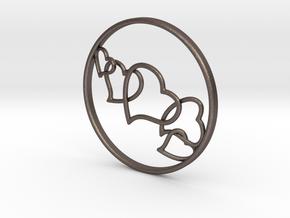 L.O.V.E. Earring in Polished Bronzed Silver Steel