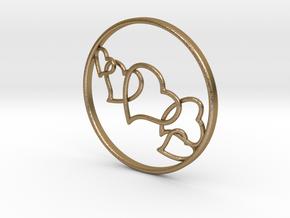 L.O.V.E. Earring in Polished Gold Steel