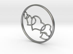 L.O.V.E. Earring in Natural Silver