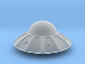 flying saucer (3cm) in Smooth Fine Detail Plastic: Extra Small