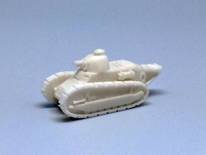 1/100 Renault tank in White Strong & Flexible