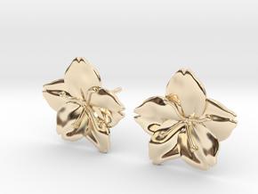 Sakura Stud Earrings in 14K Yellow Gold