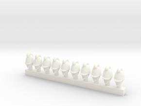 10 x Baden Infantry (28mm) in White Processed Versatile Plastic